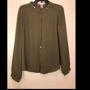 Forever21 Olive Green Blouse size M/L